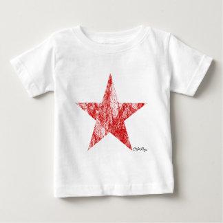 T-tröja för stjärna för CafeRacer röd utformad Tee