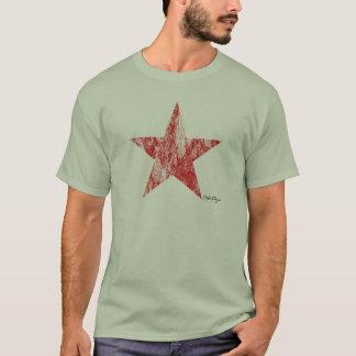 T-tröja för stjärna för CafeRacer röd utformad Tee Shirt