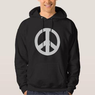 T-tröja för svart för fredsteckenfredsymbol hoodie