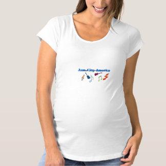 T-tröja för syltstadsAmerika moderskap T Shirt