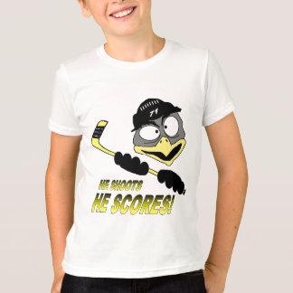T-tröja för ungdompingvinhockey t-shirt