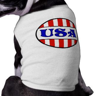 T-tröja för USA Retro stilhusdjur Långärmad Hundtöja