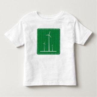 T-tröja för vindturbinsmåbarn t-shirt