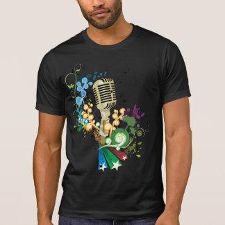 T-tröja för vintagemikrofonmusik tee shirt