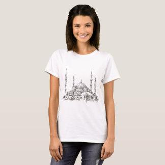 T-tröja för vit för SultanAhmet moské för kvinnor T-shirts