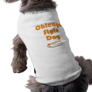 """T-tröja för vovve """"för Chicago stilhund"""" Husdjurströja"""