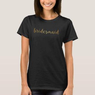 T-tröja - guld- brudtärna tröja