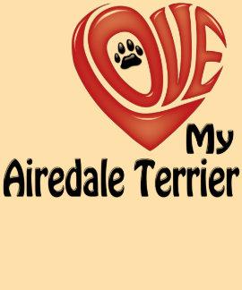 T-tröja kvinnor: Älska min AiredaleTerrier