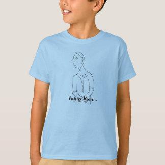 T-tröja med ett roligt mantryck t shirt