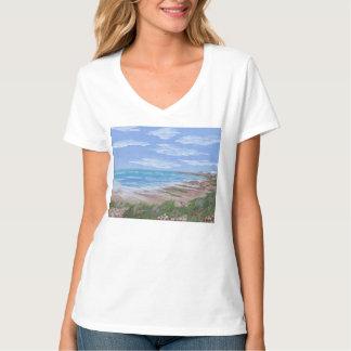T-tröja med strandplats t-shirt