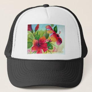 T-tröja med tropiska blommor keps