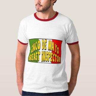 T-tröja och gåvor för Cinco de Mayo bröstinspektör T Shirts