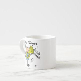 T-tröja och gåvor för spelare för stick figurflick espressokopp