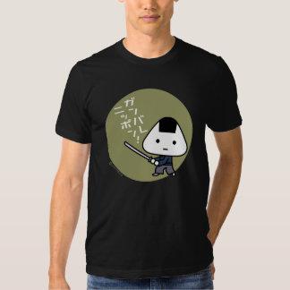T-tröja - Riceball Samurai - Ganbare Japan guld T-shirt