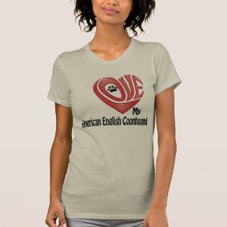 T-tröjakvinna kärlek min amerikanengelskaCoonhound Tee Shirt
