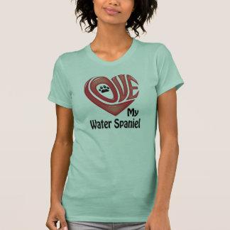 T-tröjaKvinna kärlek min amerikanvattenSpaniel Tröja
