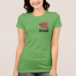 T-tröjaKvinna kärlek min Beagle