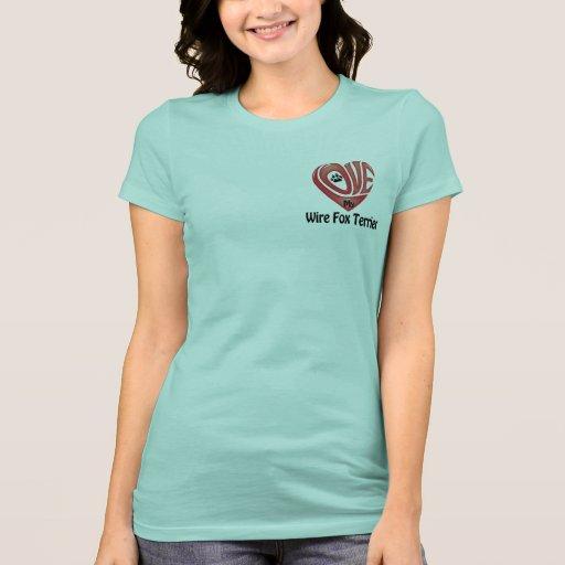 T-tröjaKvinna kärlek min Binda-lag foxterrier T-shirt