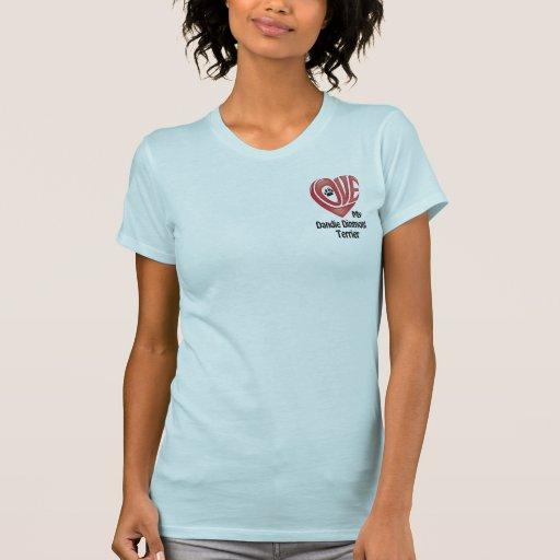 T-tröjaKvinna kärlek min Dandie Dinmont Terrier Tee Shirt