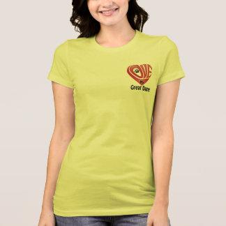 T-tröjaKvinna kärlek min great dane Tshirts