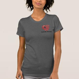 T-tröjaKvinna kärlek min isländska Sheepdog T-shirt