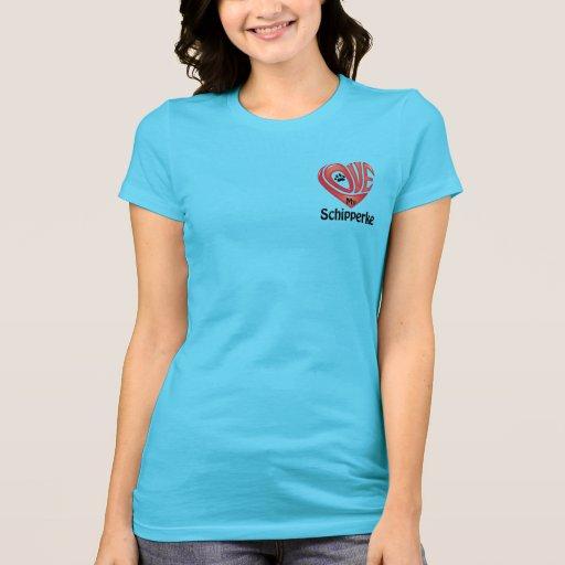 T-tröjaKvinna kärlek min Schipperke Tee Shirt