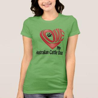 T-tröjaKvinna kärlek som mitt australiensiska Tee Shirts