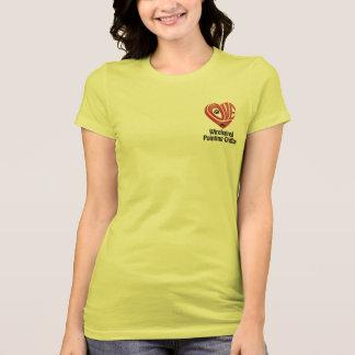 T-tröjakvinnor älskar min Wirehaired peka Griffon T Shirt