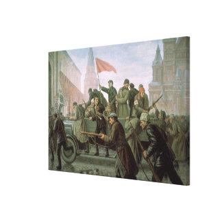 Ta av Moscowen Kremlin i 1917, 1938 Canvastryck