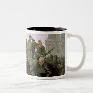 Ta av Moscowen Kremlin i 1917, 1938 Två-Tonad Mugg