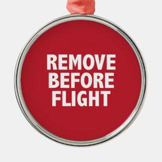 Ta bort för flyg julgransprydnad metall