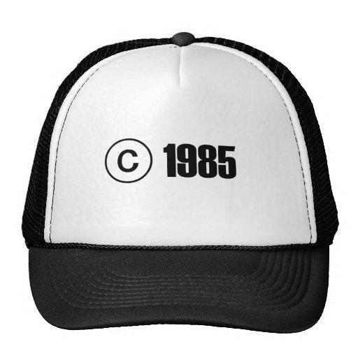 Ta copyrightt på 1985 baseball hat