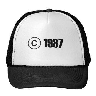 Ta copyrightt på 1987 keps