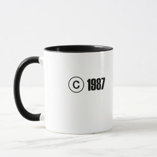 Ta copyrightt på 1987 mugg
