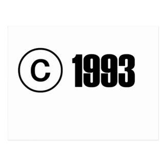 Ta copyrightt på 1993 vykort