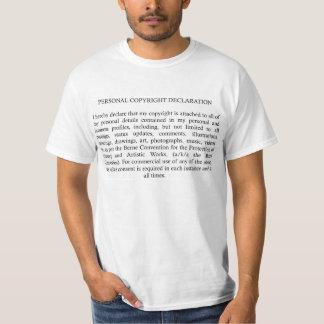 Ta copyrightt på förklaringen t-shirt