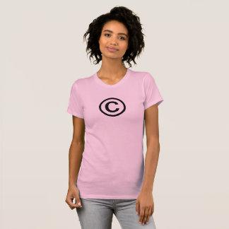 Ta copyrightt påsymbolkvinna T-tröja Tee Shirts