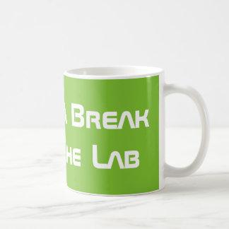 Ta ett avbrott från labbet kaffemugg