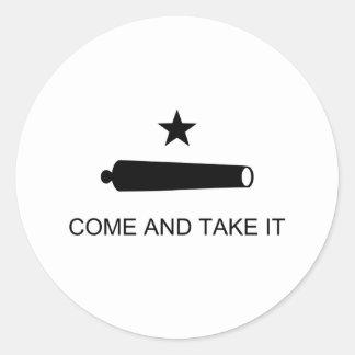 Ta kommer det den Texas flagga Runt Klistermärke