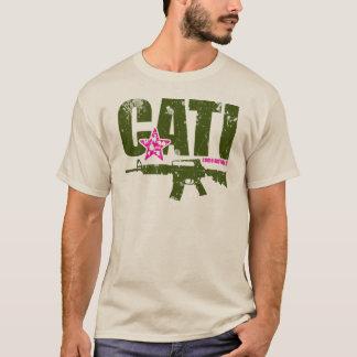 Ta kommer det T-tröja AR15 - grönt & rosor T-shirts
