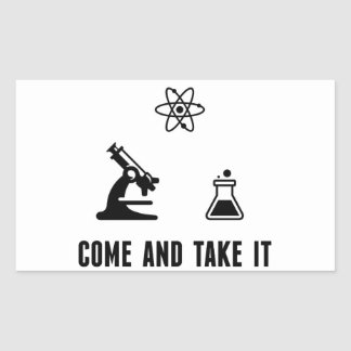 Ta kommer det vetenskapsklistermärken rektangulärt klistermärke