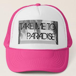 Ta mig till rosa kvinna för paradiset truckerkeps