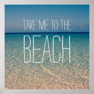 Ta mig till sanden för guld för blå himmel för poster