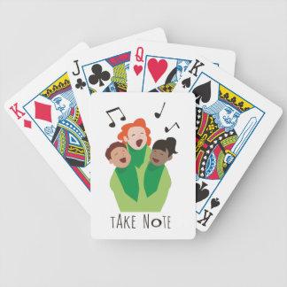 Ta noterar spelkort