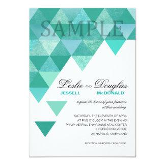 TA PROV den matte geometriska triangelkrickan för 12,7 X 17,8 Cm Inbjudningskort