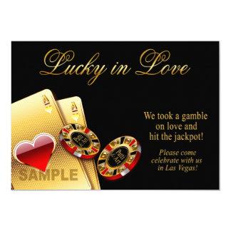 TA PROV ENDAST papper för kasinostilbröllop: 12,7 X 17,8 Cm Inbjudningskort