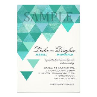 TA PROV hantverkaren klädde med filt geometriska 12,7 X 17,8 Cm Inbjudningskort