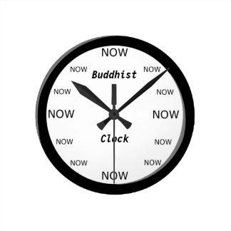 Ta tid på buddisten tar tid på rund klocka