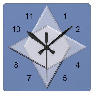 Ta tid på - det geometriska mönster fyrkantig klocka