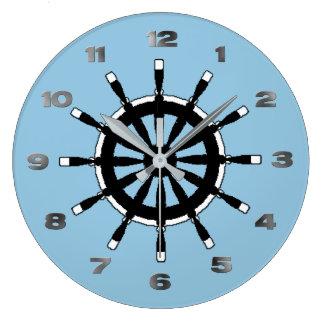Ta tid på - fraktrodern stor rund klocka